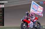 Em uma chegada eletrizante, Andrea Dovizioso vence a prova da MotoGP no Qatar