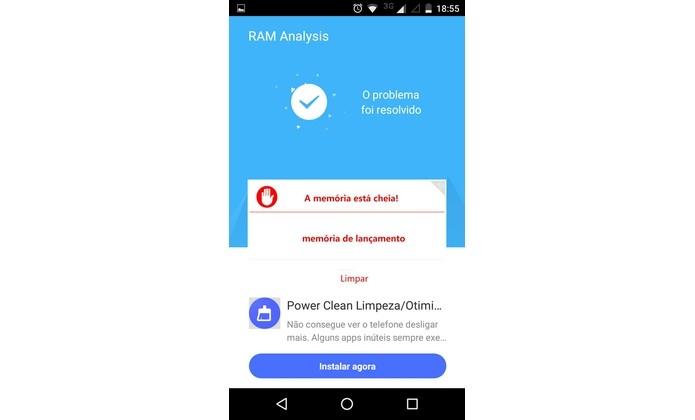 Android com desempenho melhorado com RAM Analysis (Foto: Reprodução/Raquel Freire)