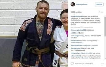 """BLOG: Dos Anjos zomba de foto de McGregor: """"Não sabe amarrar faixa, fanfarrão"""""""