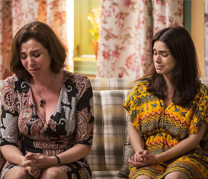 Shirlei fica bastante mexida com a história (Foto: Inácio Moraes/Gshow)
