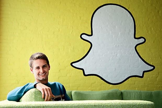 AMBIÇÃO O americano Evan Spiegel, fundador do Snapchat. Ele recusou uma oferta de US$ 3 bilhões  do Facebook (Foto: Jae C. Hong/AP)