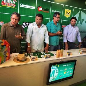 Treinador, Alexandre Barroso, Mamoré, presidente, Beto Ribeiro, Moraes, Frank Gontijo (Foto: Esporte Clube Mamoré;Divulgação)