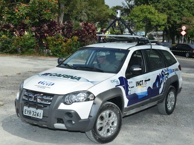 Carina, veículo autônomo desenvolvido por alunos da USP São Carlos (Foto: Divulgação)