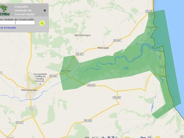 APA da Barra do Rio Mamanguape compreende uma área de mais de 14 mil hectares  (Foto: Reprodução/ICMBio)