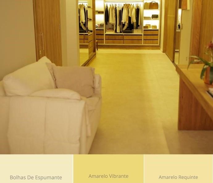 Tons de amarelo trazem charme e ainda ampliam os ambientes (Foto: TV Globo)
