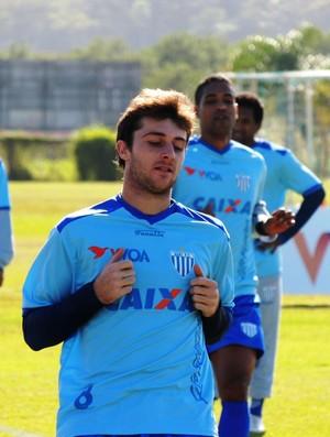 Diego Jardel meia Avaí treino CFA (Foto: Marcelo Silva)