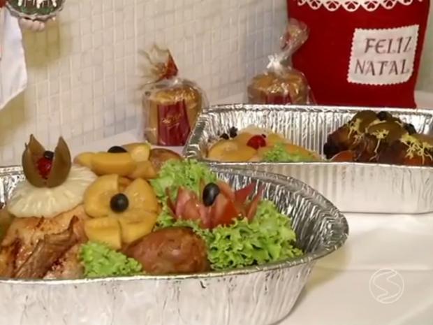 Empresas oferecem pratos da ceia de Natal prontos em Volta Redonda (Foto: Reprodução/TV Rio Sul)