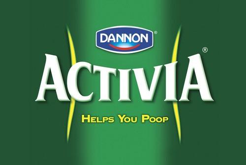"""Para Activia, ele propõe um slogan mais direto, próximo ao """"ajuda você a 'ir ao banheiro' """"  (Foto: HonestSlogans)"""