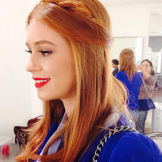 Marina Ruy Barbosa com penteado trançado (Foto: Reprodução / Instagram)