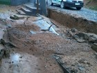 Chuva gera deslizamento e enchentes em Cajati, no Vale do Ribeira