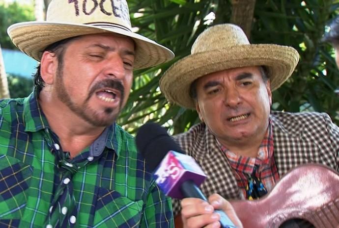 Dupla já apareceu na tela do Revista de Sábado (Foto: Reprodução / TV TEM)
