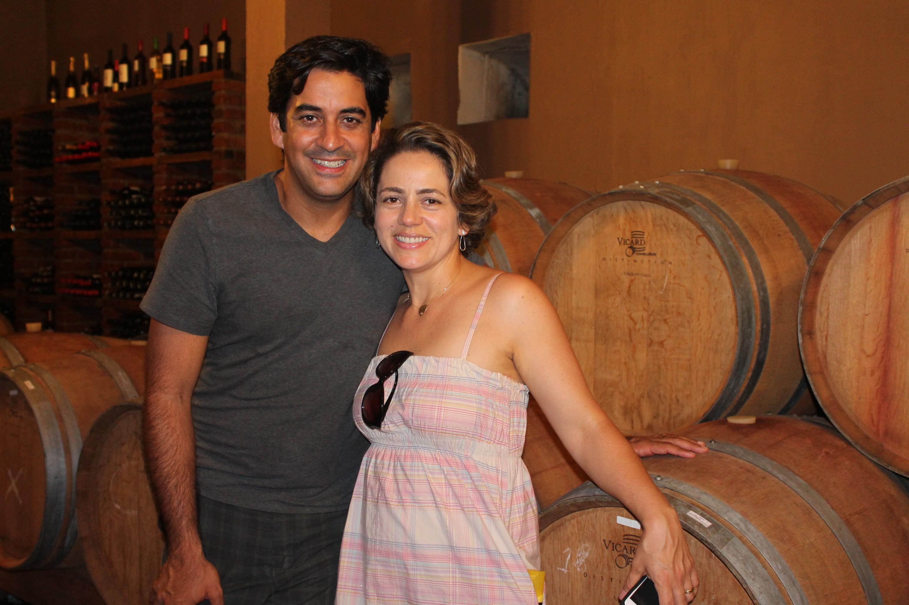 George Guilherme esteve em locais turísticos da região acompanhado da esposa, Carla (Foto: Gabriela Canário)