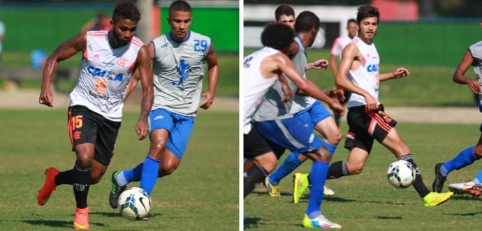 Muralha e Matheus treino Flamengo (Foto: Site Oficial do Flamengo)