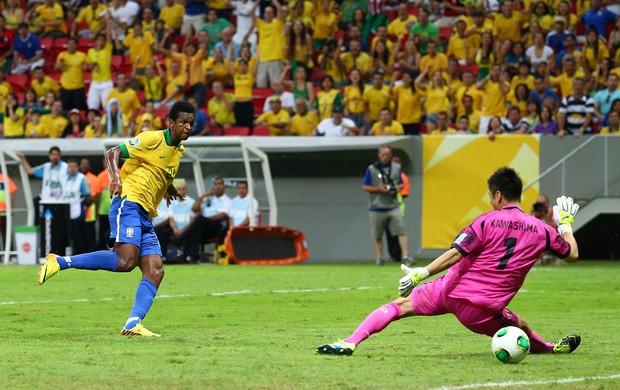 Jô gol, Brasil x Japão (Foto: Getty Images)