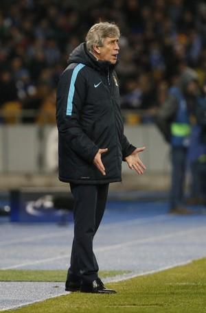 Manuel Pellegrini Manchester City x Dinamo Kiev (Foto: Reuters)