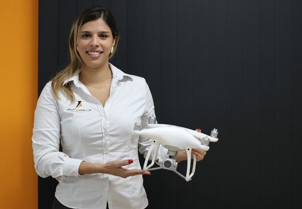 Raquel Molina, da Futuriste: do mercado financeiro para o treinamento de operação de drones (Foto: The Girls on the Road)