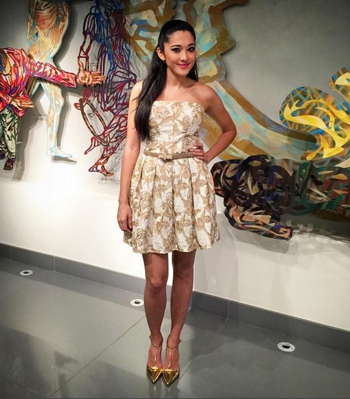 Longo ou curto, vestido é item queridinho da atriz (Foto: Arquivo pessoal)