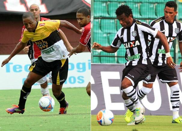 O Criciúma está em quinto na tabela e o Figueirense, em quarto (Foto: Fernando Ribeiro/Criciúma EC/Luiz Henrique/Figueirense FC)