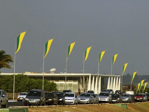 Preparação para desfile do 7 de Setembro em Brasília (Foto: Vianey Bentes/TV Globo)