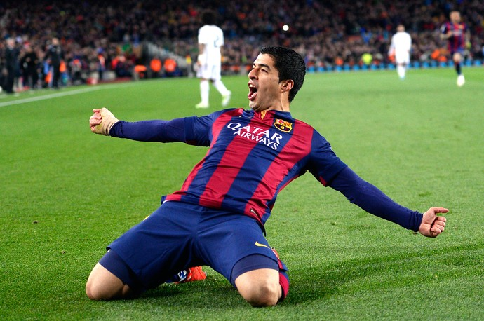 Suarez, barcelona x Real Madrid (Foto: AP)