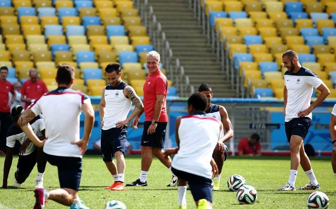 Didier Deschamps treino França no Maracanã (Foto: André Durão/GloboEsporte.com)