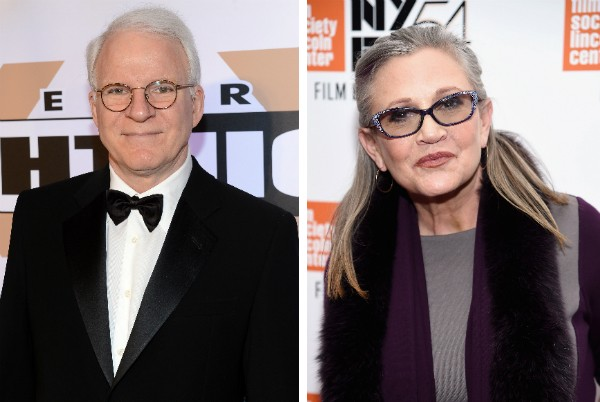 O ator Steve Martin e a atriz Carrie Fisher (Foto: Getty Images)