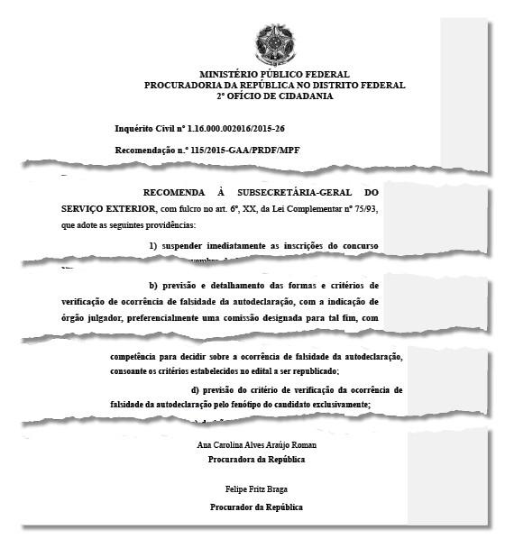 Ministério Público recomenda ao Itamaraty que suspenda concurso (Foto: Reprodução)