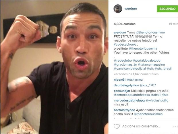 Fabricio Werdum zoa Conor McGregor instagram