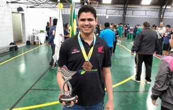 Carlos Eduardo conquista bronze  na Copa do Brasil de Tênis de Mesa
