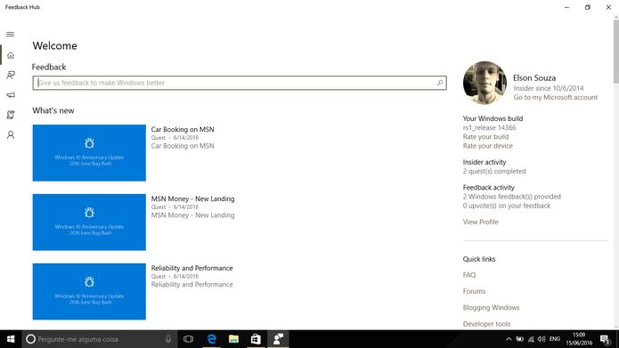 Windows 10 Build 14366 foi lançada com foco em correção de bugs (Foto: Reprodução/Elson de Souza)