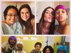 Thaila Ayala faz a alegria de crianças com câncer em visita a hospital