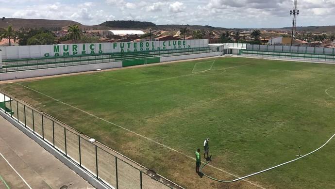 Vista geral do estádio José Gomes da Costa, local do jogo entre Murici e Cruzeiro (Foto: Aluísio Gonzaga)