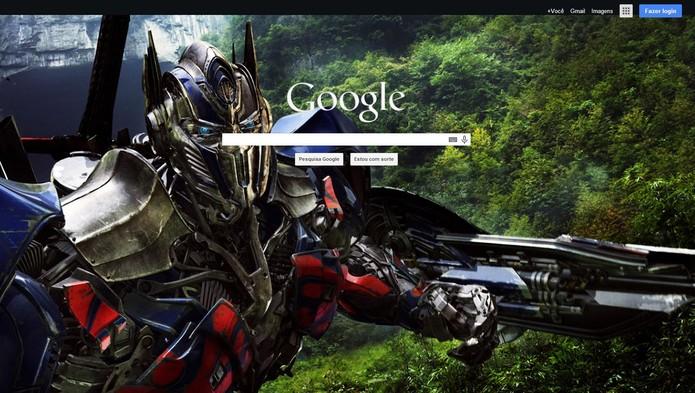 Altere o plano de fundo do Google para imagem que preferir (Foto: Reprodução/Google)
