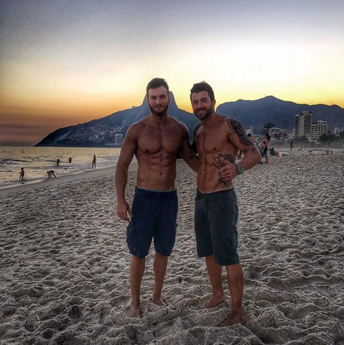 Ex-BBBs Wesley Shunck e Cristiano Naya (Foto: Arquivo Pessoal)