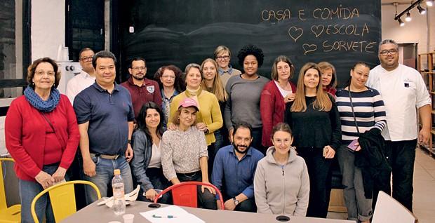A turma toda reunida  (Foto: Olivia Fraga/Editora Globo)