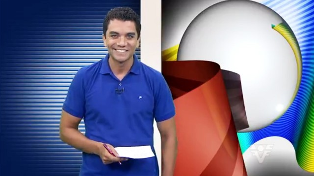 Antônio Marcos apresentando o Tribuna Esporte (Foto: Reprodução / TvTribuna)