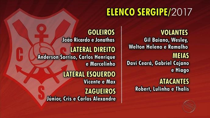Sergipe, Elenco 2017 (Foto: Reprodução/TV Sergipe)