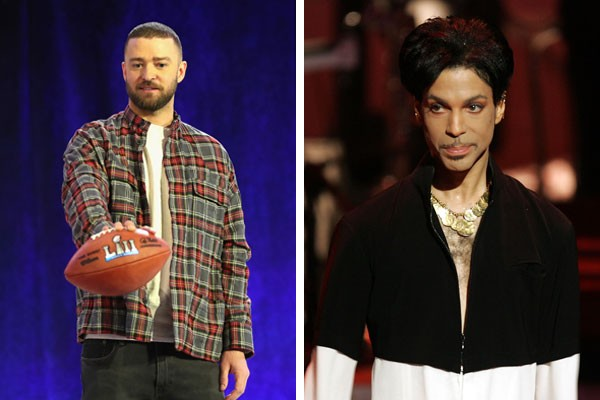 Justin Timberlake e Prince (Foto: Getty Images)