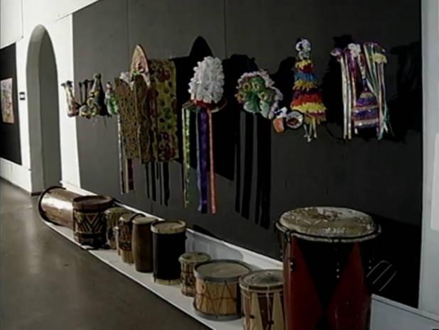 Exposição africana curro velho (Foto: Reprodução/TV Liberal)