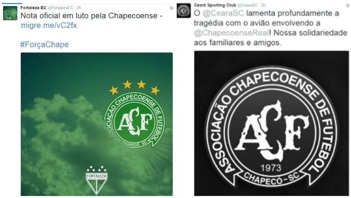 ceará, fortaleza, chapecoense (Foto: Reprodução/Twitter)