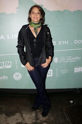 Drica Moraes em estreia de peça na Zona Sul do Rio (Foto: Alex Palarea/ Ag. News)
