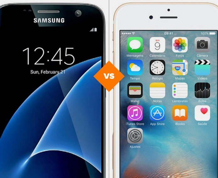 Galaxy S7 ou iPhone 6S: comparativo traz tops da Samsung e da Apple (Foto: Arte/TechTudo)