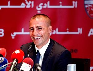 fabio cannavaro apresentado no Al Ahli (Foto: agência Reuters)