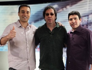 Casagrande Gilvan Ribeiro André Rizek Redação SporTV (Foto: Gabriel Benamor/SPORTV.COM)