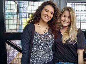 Natália e Renata (Foto: Carol Malandrino/G1)