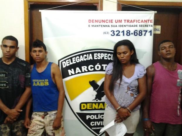 Quatro suspeitos são presos por tráfico de droga em Porto Nacional (Foto: Reprodução/TV Anhanguera)