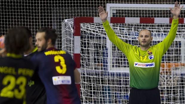 Danijel Saric goleiro handebol Barcelona (Foto: Divulgação/ FCB)
