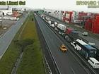 Caminhoneiros bloqueiam trechos de rodovias catarinenses pelo 10º dia