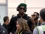 Bolt desembarca no Rio sob forte segurança (Patrick Semansky/AP)