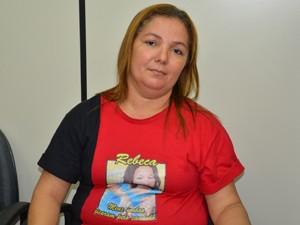 Mãe de Rebeca, Tereza Cristina (Foto: Walter Paparazzo/G1)